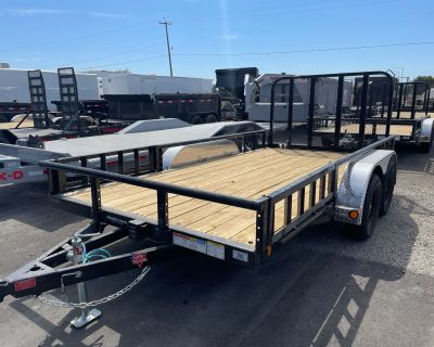 2021 PJ Trailers 83 in. Tandem Axle Channel Utility (UL) 14 ft. Utility Trailers Elk Grove, CA
