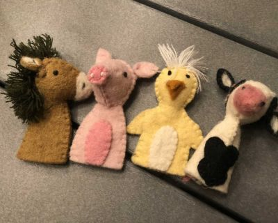 Wool Animal Finger Puppets