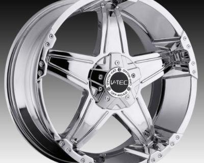 "18"" V-tec 395 Chrome Wheels Rims Nissan Titan Armada"