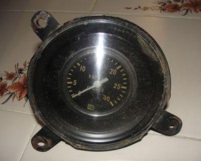 1969 68 Torino Vintage Stewart Warner Vacuum Gauge Clock Ranchere Fairlane Ford