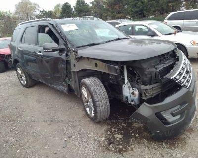Salvage Black 2017 Ford Explorer