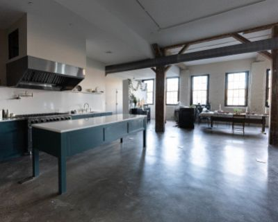 Natural Light Culinary Studio in Industrial Building, Kingston, NY
