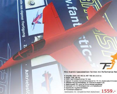 Rare Find!!! Red Sebart Mini Avanti EDF (90mm or perfect for X45, Kingtech 45turbine)