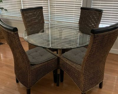Kitchen Glass Top Table