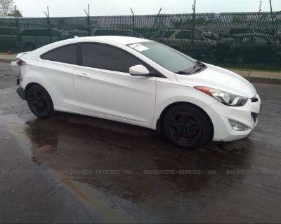 Salvage White 2013 Hyundai Elantra Coupe
