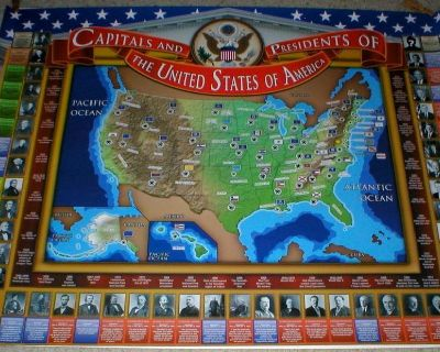 Historical Poster - Presidents & Capitals of the United States of America