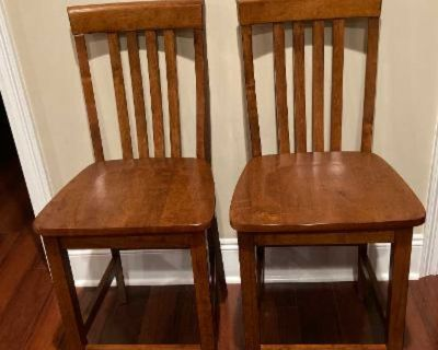 """New Set of Two Crosley Furniture 24"""" Wood Counter Height Bar Stools"""
