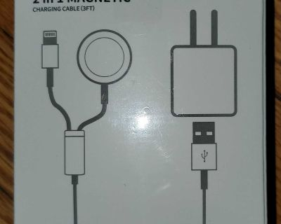 Apple Magnetic Portable Watch and Phone 2 in 1 Charger Cable
