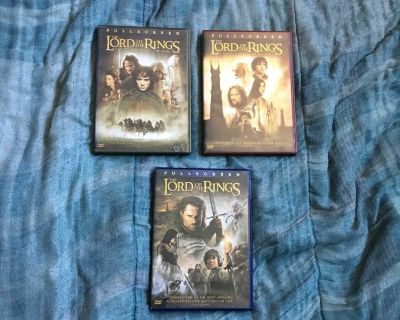 Lot Of 3 The Lord Of The Rings DVDs