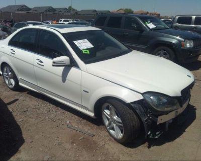 Salvage White 2012 Mercedes-benz C-class