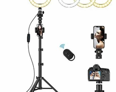 8 LED Ring Light with Tripod Stand & Phone Holder - new in box