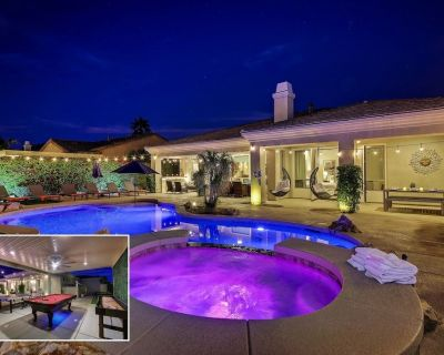 Mirage: Pool, Spa, Pool Table, Ping Pong, Fireplace - Indio