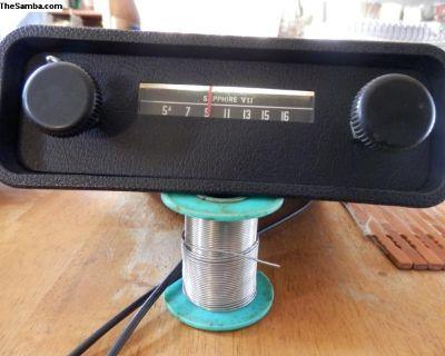 working 1969 sapphire vii 6/12 volt vw radio$100.0