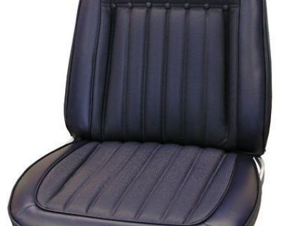 Seat Covers, Front & Rear, 1969 Camaro Deluxe Coupe, Black