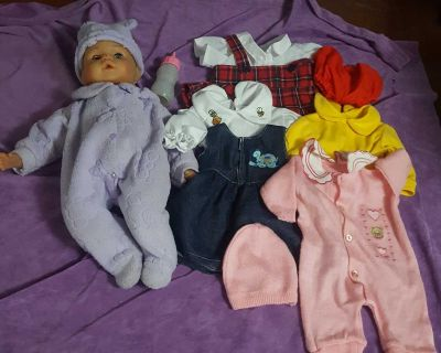 """Lissi 18"""" Baby Doll, Clothes, and Accessories"""
