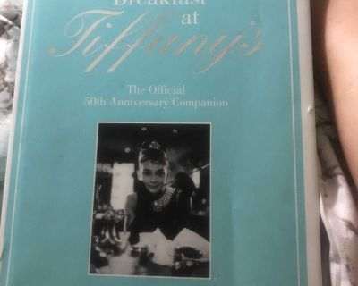 Breakfast at Tiffany s coffee table book (cover is dirty)