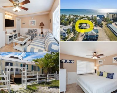 1 Bedroom Cottage - Gulf Beach Access - Pet Friendly - Fort Myers Beach