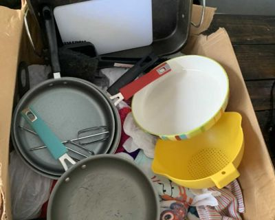 Huge lot of assorted kitchen items - 2 boxes