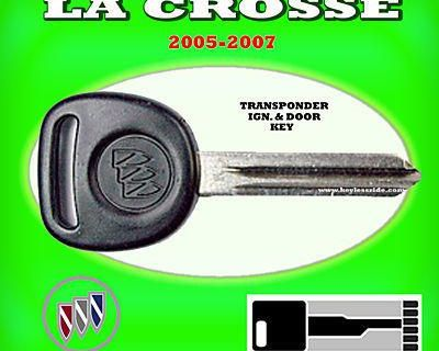 05 06 07 Buick La Crosse Transponder Chip Ignition Key