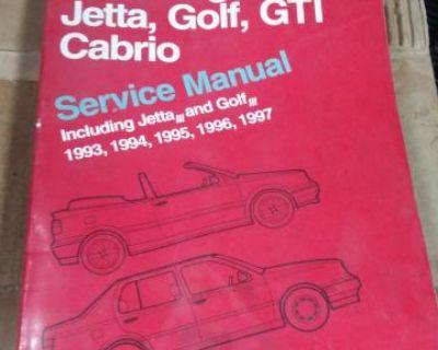 93-97 vw jetta golf gti cabrio Bentley shop manual