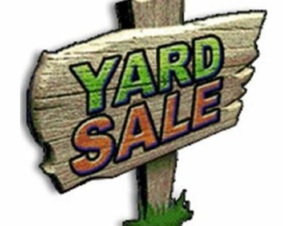 HUGE BACK TO SCHOOL YARDSALE. MOST ITEMS ARE $3 AND UNDER