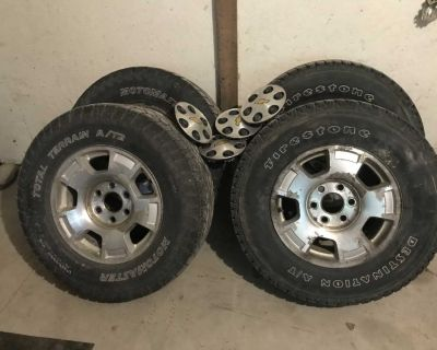 Tires on rims with tires tpsm sensors
