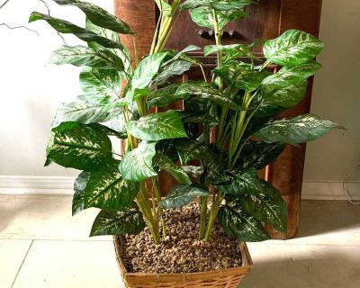 LARGE Faux Plant 40 tall by 35 wide. In Heavy Basket Very nice.