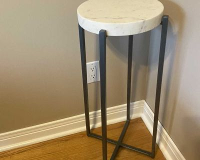 Heavy modern plant stand/side table