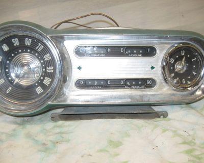1954 Chevrolet Gauge Cluster, Radio, Dash trim