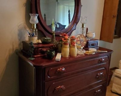 Lillian Russell Bedroom Suite, Cherry Creek furnishings, tools, and household!