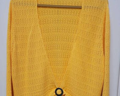EUC Coldwater Creek Crocheted Overpiece; size 3x