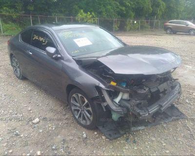 Salvage Gray 2013 Honda Accord Cpe
