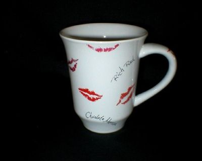 Mary Kay Advertising Collectible Coffee Mug - Lipstick Kisses - Only displayed