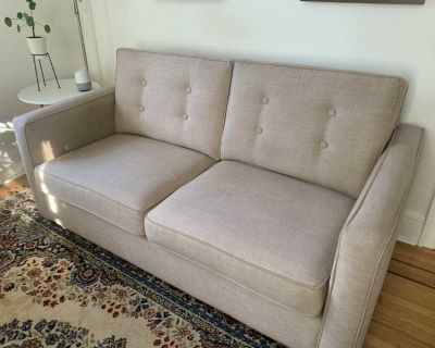 Beige couch/sofa