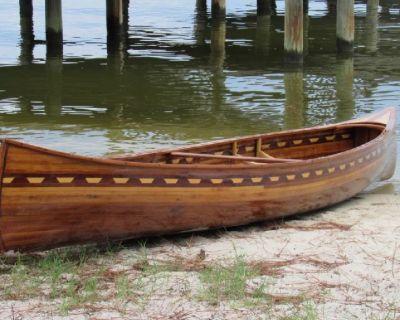 Wood Strip Canoe