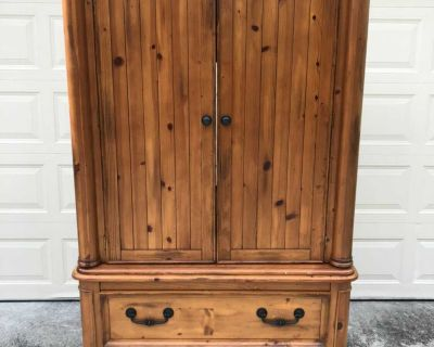 Wood Armoire/ TV console