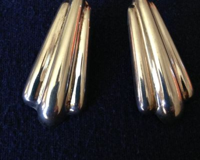 """""""Sterling Silver Earrings"""" Beautiful South West/Art Deco/Free Shipping C-US"""