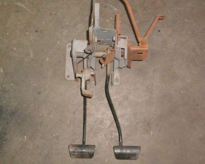 Orig Mopar 4 Speed B Body Clutch Pedal Set, Roadrunner, Charger, Challenger 440,