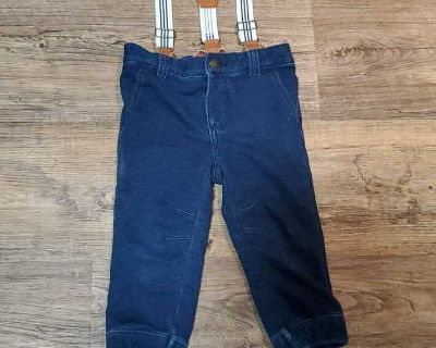 Boys pants with suspenders