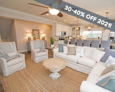 TOES IN THE SAND: 30-40% OFF 2021 Dates! Beautiful Home w/ Fire Pit, Pool & Golf Cart! - Avalon Beach Estates