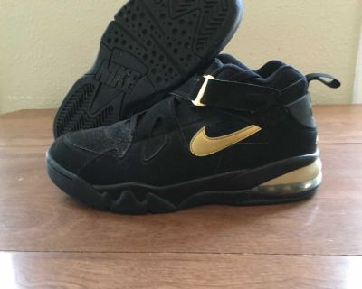 Nike Air Force Max CB Black & Gold Size 12.5