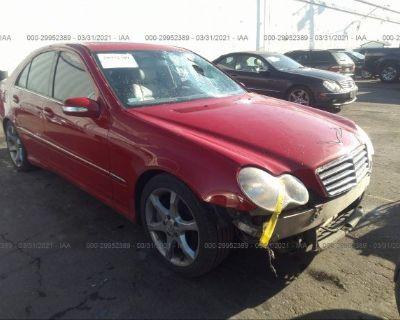 Salvage Red 2007 Mercedes-benz C-class
