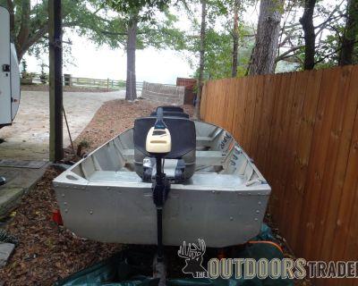 FS Glaspar 14ft Deep V Jon Boat, trailer, motor