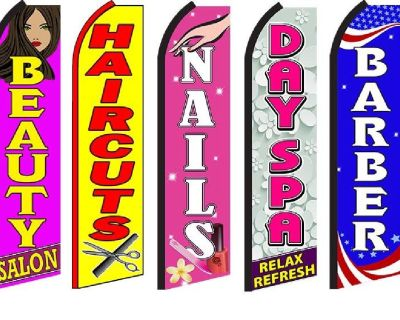 Flags of all types, Swooper, feather flag, banderas, banderines, Sky dancers