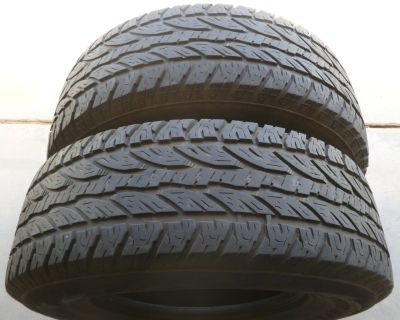 (2) LT285/70R17 used All Terrain Tires