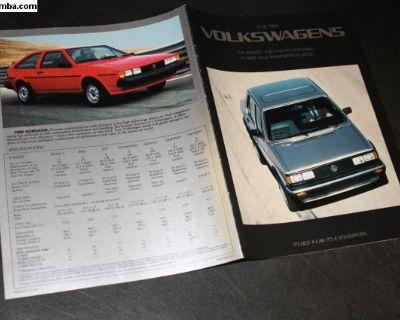 1984 Volkswagen Vehicle Line Up Brochure GTI