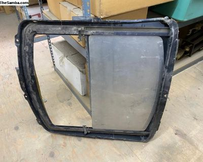 Sunroof frame and glass
