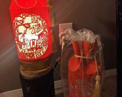 Oriental Paper Mache' Table Lamps