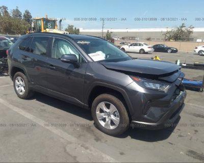 Salvage Gray 2021 Toyota Rav4