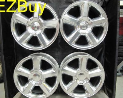 """20"""" Inch New Silverado Tahoe Factory Style Polished Set Of Four Wheels Rims 5308"""
